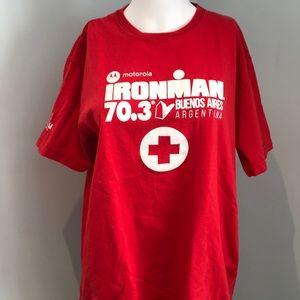 Ironman, medical tent T-shirt. XL  EUC